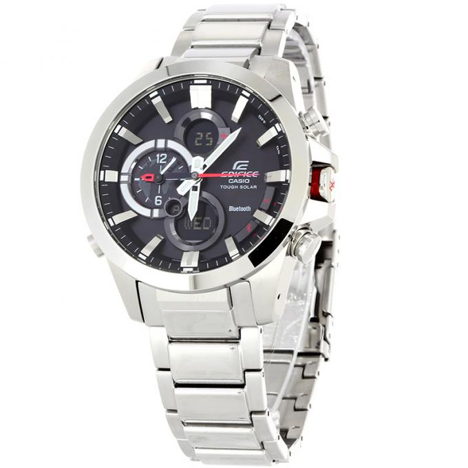 montre casio edifice bluetooth ecb 500d 1aer sur mode in motion. Black Bedroom Furniture Sets. Home Design Ideas