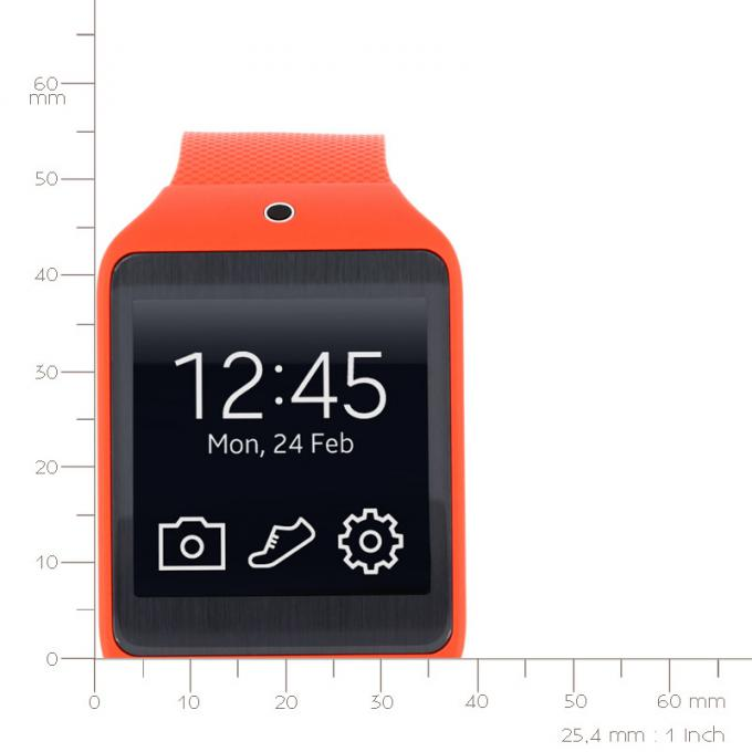 montre samsung galaxy gear 2 lite r3810 wild orange sur. Black Bedroom Furniture Sets. Home Design Ideas