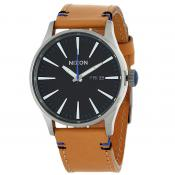 Nixon - A105-1602 The Sentry Leather - Montre nixon homme