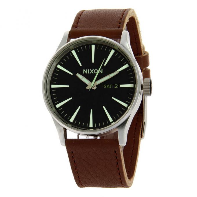 Montre Nixon Leather In A105 The Sur 1037 Sentry Mode Motion jL3ARq54