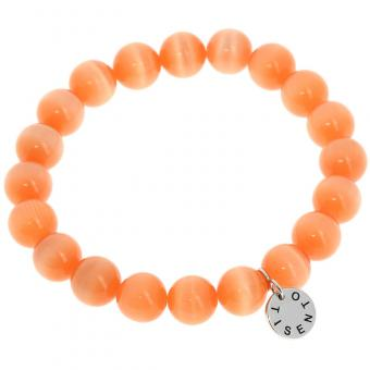 Bracelet Cat's Eye Orange 10 mm 2524OR