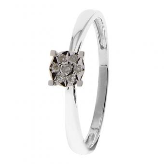 Bague Or blanc 375 Diamant 09ZM22GB5