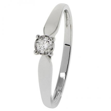 Bague Or blanc 375 Diamant 09ZQ60GB4 OR 9 CARATS