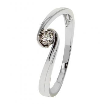 Bague Or blanc 375 Diamant 09ZQ84GB4