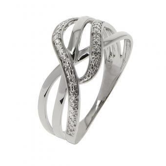 Bague Or blanc 375 Diamant 09ZG13GB