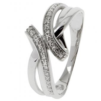 Bague Or blanc 375 Diamant 09ZF26GB