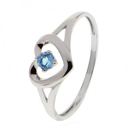 Bague Or blanc 375 Topaze 09FH86GT OR 9 CARATS