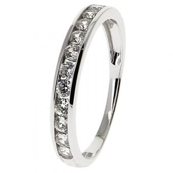 Bague Or blanc 375 Zirconium 09SC52GZ