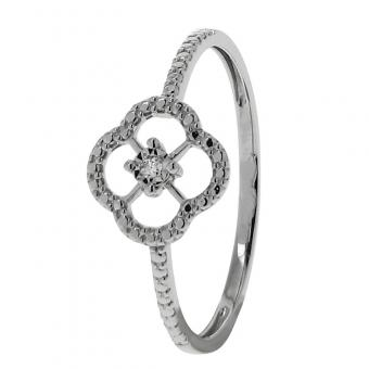 Bague Or blanc 375 Diamant 09ZA099GB4
