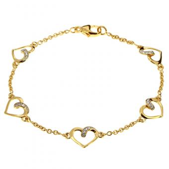 Bracelet Lovely shine plaqué Or