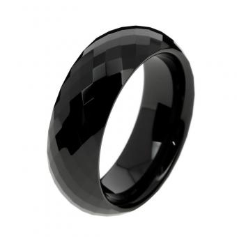 Bague Facetic black en Céramique