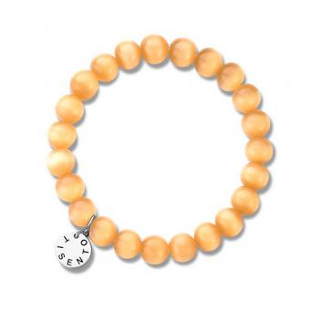 Bracelet Cat's Eye Orange 8 mm 2610OR