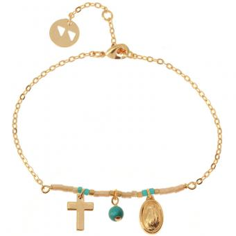 Bracelet Like A Prayer E14B13 doré Nude