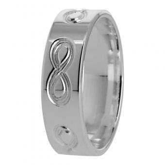 Alliance Ruban infini 6 mm en Argent