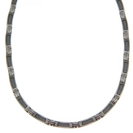 Collier White carbon en Acier DESTINATION ACIER