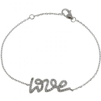 Bracelet Love and shine en Argent rhodié
