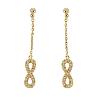 Sortileges - Boucles d'oreille Eternal shine plaqué Or - Bijoux sortileges femme
