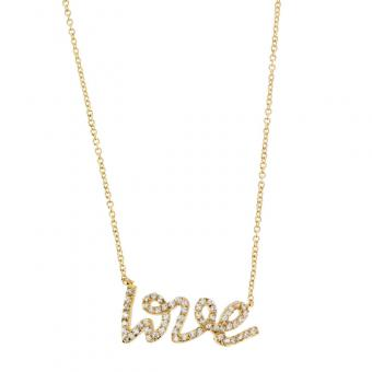 Collier Love and shine plaqué Or