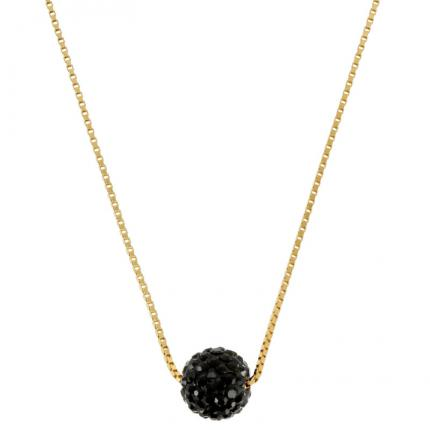 Collier Disco black plaqué Or PASSEPORT POUR L'OR