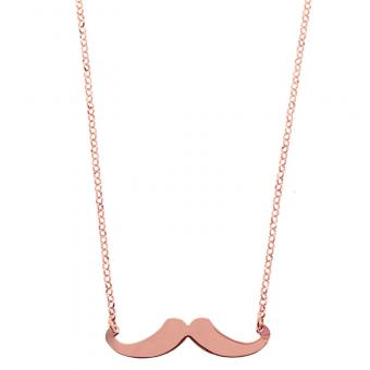 Collier Moustache C9683-Rose