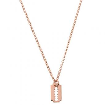 Collier Lame de rasoir C9693-Rose