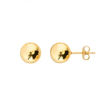Boucles d'oreille Ball 8 mm OR 9 CARATS