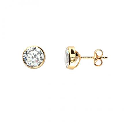 Boucles d'oreille Bulle 7 mm OR 9 CARATS