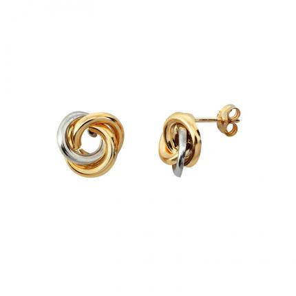 Boucles d'oreille Noeud plat OR 9 CARATS