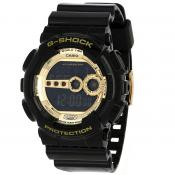 Casio - G-SHOCK GD-100GB-1ER-MIM Black and Gold - Montres casio g shock quartz