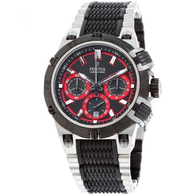 montre festina chrono f16775 8 sur mode in motion. Black Bedroom Furniture Sets. Home Design Ideas