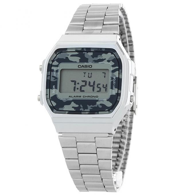 montre casio vintage camouflage face a168wec 1ef sur mode in motion. Black Bedroom Furniture Sets. Home Design Ideas