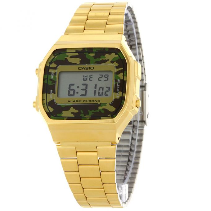 montre casio vintage camouflage face a168wegc 3ef sur mode in motion. Black Bedroom Furniture Sets. Home Design Ideas