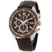 Casio - EDIFICE Powerful Design EFR-539L-5AVUEF - Montre bracelet cuir homme