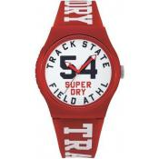 Superdry - SYG182WR - Montre homme rouge