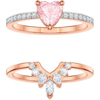 Bague Swarovski ONE-RING-SET-ROSEGOLD